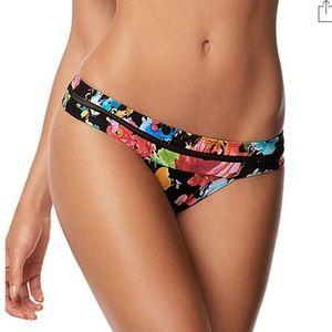 NWT Pilyq Samba Banded Mesh Teeny Bikini Bottom M